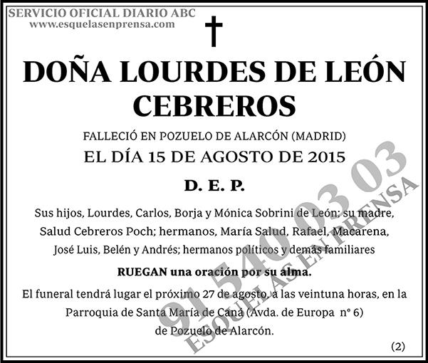 Lourdes de León Cebreros